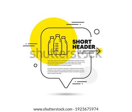 water bottles line icon speech