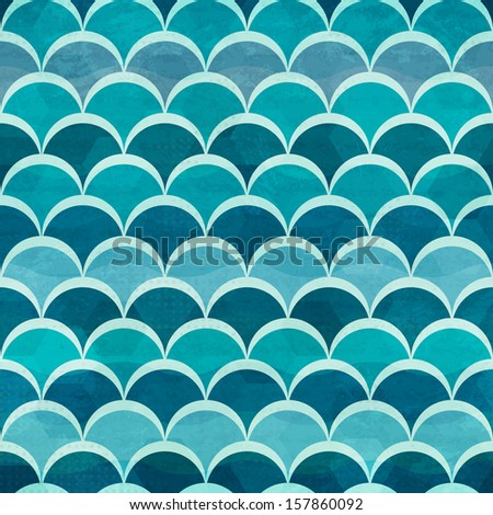 water circle seamless pattern