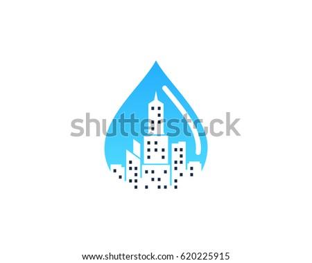 water city icon logo design