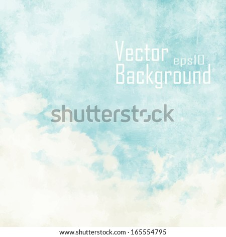 stock-vector-water-color-like-cloud-on-old-paper-texture-background-vector