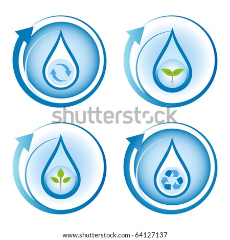 Water conservation and recycling concept.