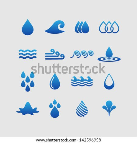 Water Design Vector Water Design Elements Stock