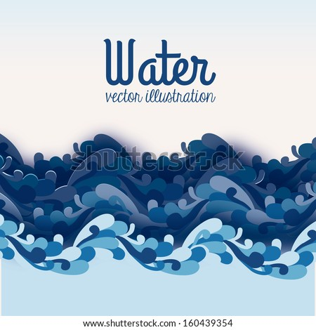 water design over blue
