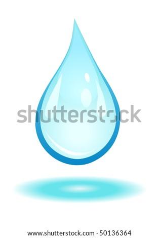water drop. stock vector : water drop