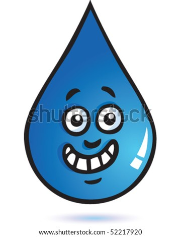 water drop cartoon. stock vector : Water Drop