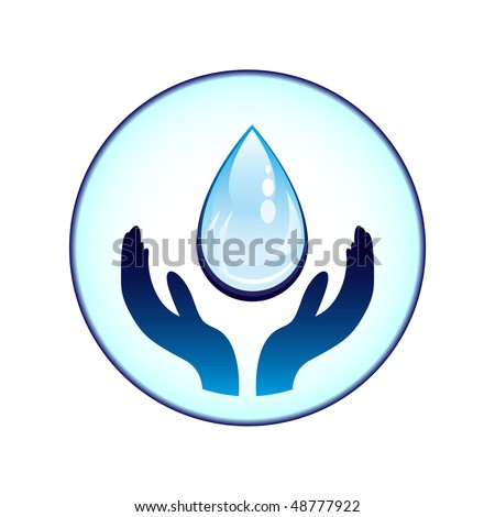 water-drop and hands