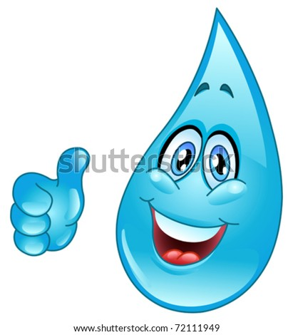 Water drop cartoon