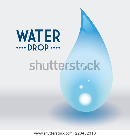 Water Design Vector Water Drop Graphic Design