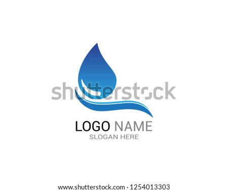 Water drop icon logo template