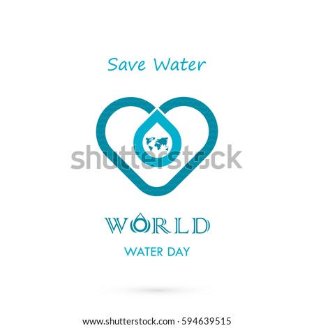 water drop icon with world icon