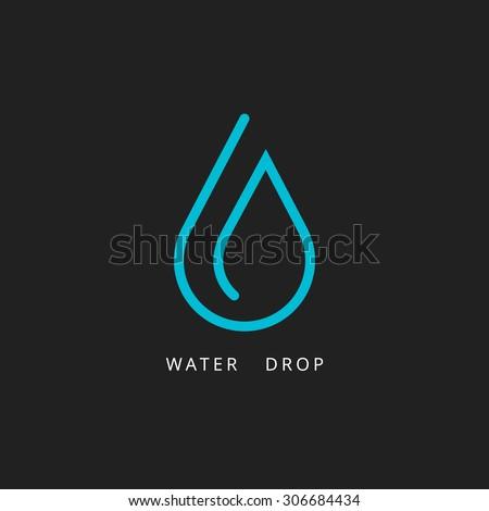 water drop logo design element
