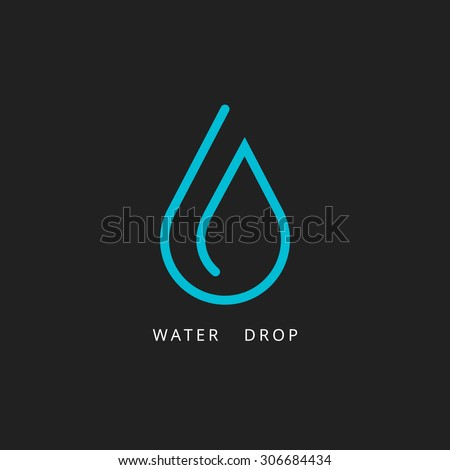 water drop logo design element