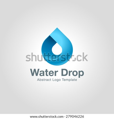 water drop logo template icon