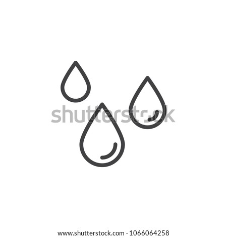 Water Drop outline icon. linear style sign for mobile concept and web design. Rain drops simple line vector icon.  symbol, logo illustration. Pixel perfect vector graphics
