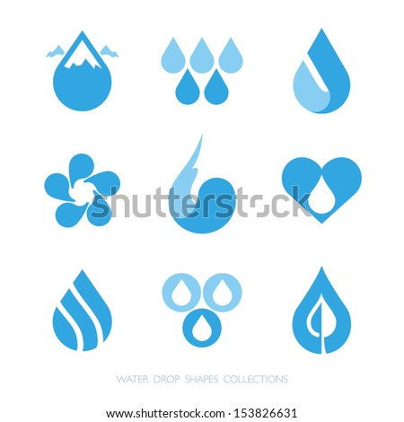 water drop shapes collection