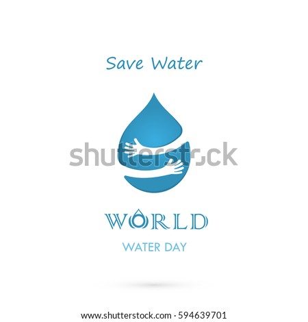 water drop sign with human hand
