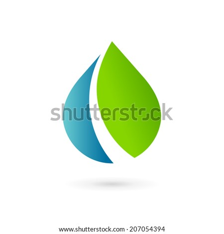 Water drop symbol logo design template icon. May be used in ecological, medical, chemical, food and oil design.