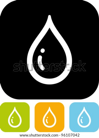 Water drop - Vector icon isolated