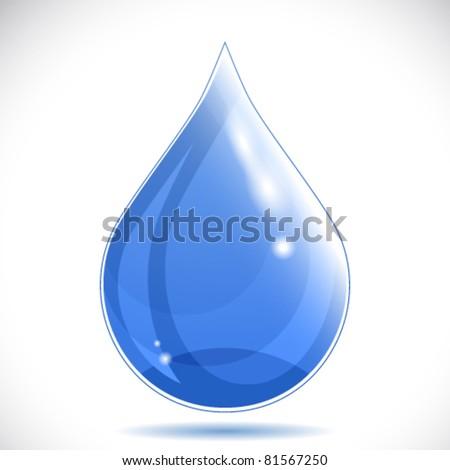Water drop - vector illustration.