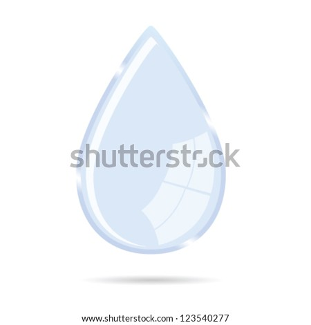 water drop vector illustration icon on white background