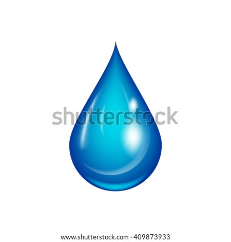Water drop vector illustration. Isolated on white.