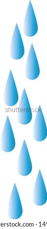 water droplets on transparent background