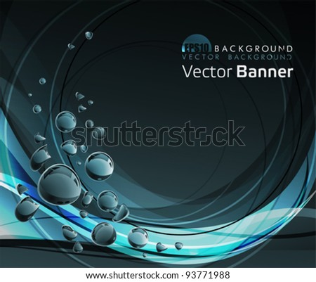 Water drops background. All elements and textures are individual objects. Vector illustration scale to any size; eps 10;