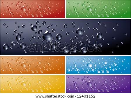 water drops backgrounds vector