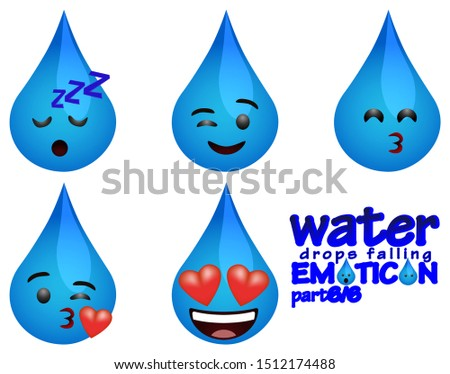 water drops falling emoticons