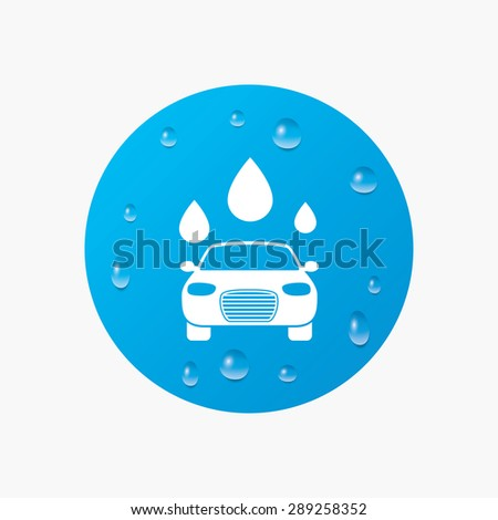 water drops on button car wash