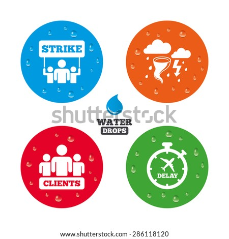 water drops on button strike