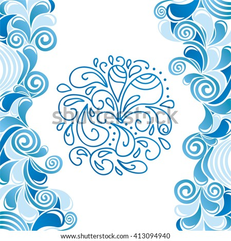 water drops pattern vector