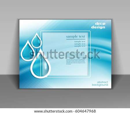 water drops vector ecology