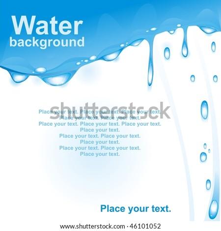 Water drops. Vector illustration.