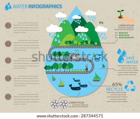 water ecology infographics