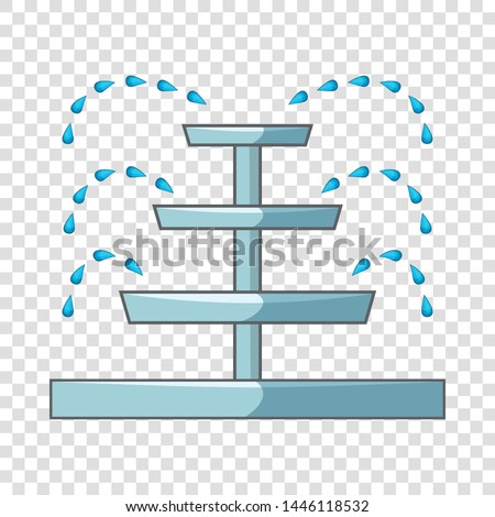 Water fountain icon. Cartoon illustration of water fountain vector icon for web design