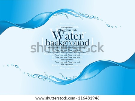 Water frame. (vector illustration)