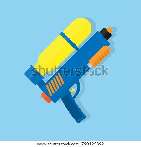 water gun flat vector design