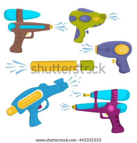 water gun isolated plastic
