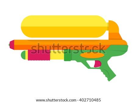 water gun vector illustration