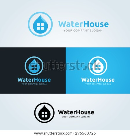 water house vector logo symbol