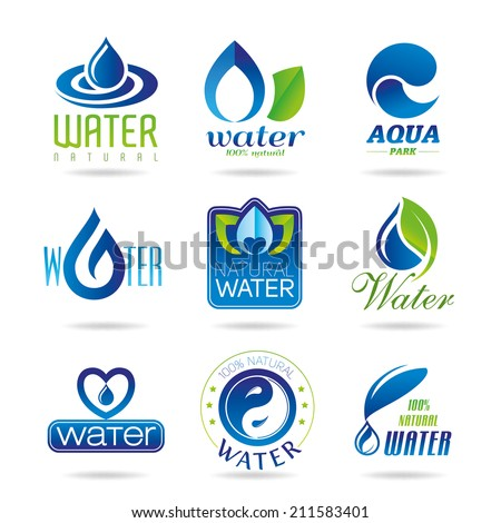 water icon set   3