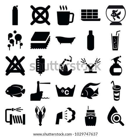 water icons set of 25 editable