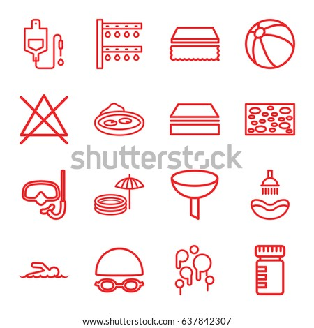 water icons set set of 16