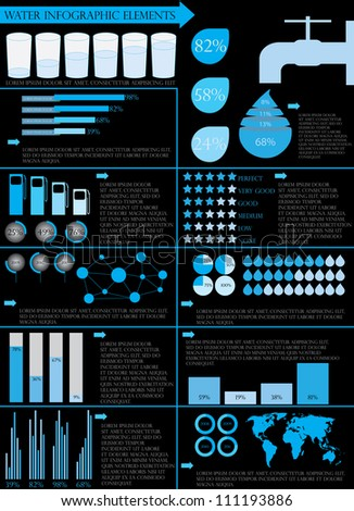 Water info graphic elements