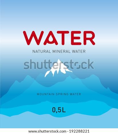 water  label design  vector