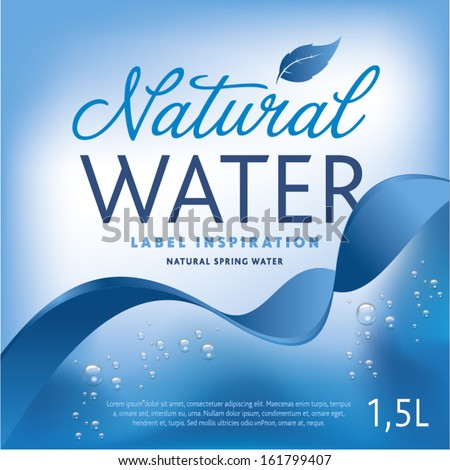 vector images illustrations and cliparts water label on light blue