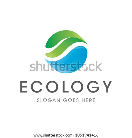 water leaf ecology logo icon