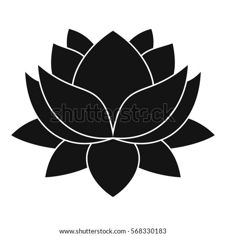 Water lily flower icon. Simple illustration of water lily flower vector icon for web
