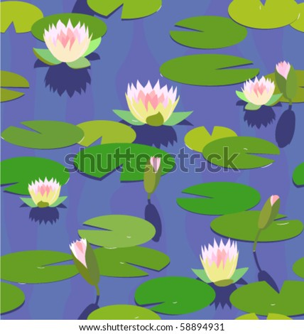 water lily seamless background